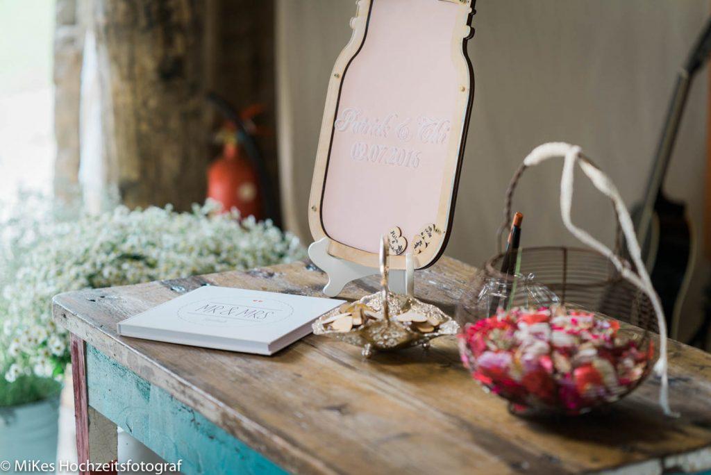 Gästebuch Hochzeitsreportage