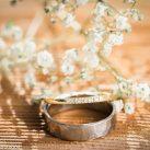 Hochzeitsringe mit Schleierkraut Hochzeitsfoto